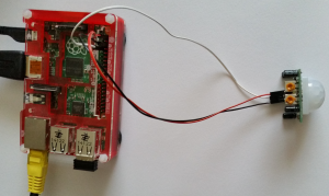 PIR motion sensor connected to Raspberry Pi