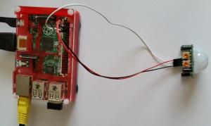 PIR motion sensor connected to Raspberry Pi