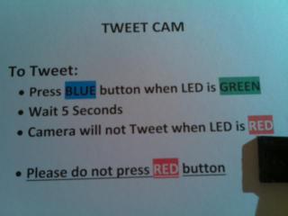 TweetCam Instructions